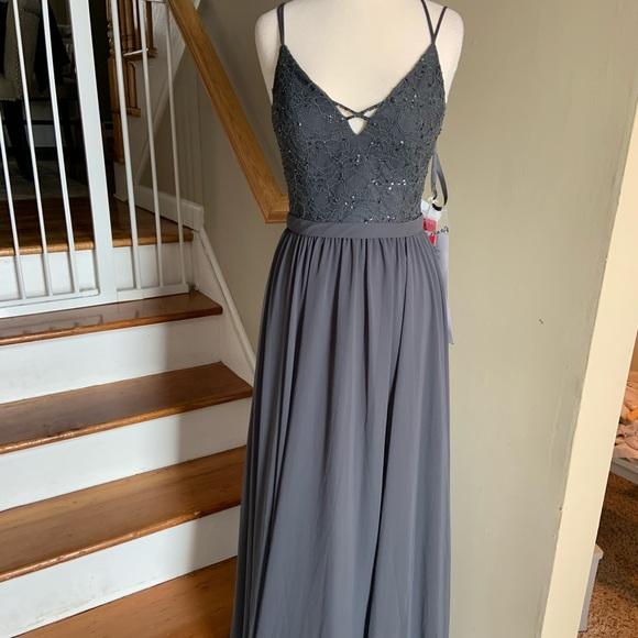 6a40e69fa027 Mori Lee Dresses | 146 Charcoal Size 8 | Poshmark